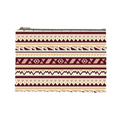 Pattern Tribal Triangle Cosmetic Bag (large)  by Alisyart