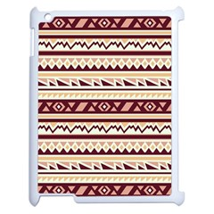 Pattern Tribal Triangle Apple Ipad 2 Case (white) by Alisyart