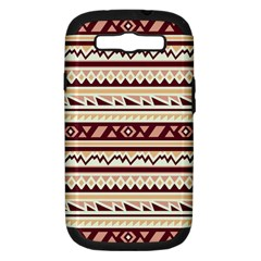Pattern Tribal Triangle Samsung Galaxy S Iii Hardshell Case (pc+silicone) by Alisyart