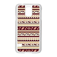 Pattern Tribal Triangle Samsung Galaxy S5 Case (white)