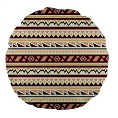 Pattern Tribal Triangle Large 18  Premium Flano Round Cushions by Alisyart