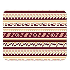 Pattern Tribal Triangle Double Sided Flano Blanket (large)  by Alisyart