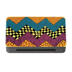 Painted Chevron Pattern Wave Rainbow Color Memory Card Reader With Cf by Alisyart