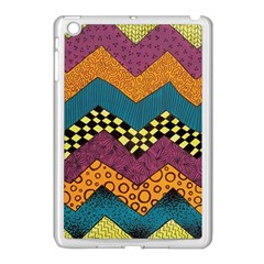 Painted Chevron Pattern Wave Rainbow Color Apple Ipad Mini Case (white) by Alisyart