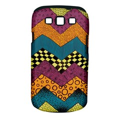 Painted Chevron Pattern Wave Rainbow Color Samsung Galaxy S Iii Classic Hardshell Case (pc+silicone) by Alisyart