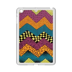 Painted Chevron Pattern Wave Rainbow Color Ipad Mini 2 Enamel Coated Cases