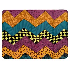 Painted Chevron Pattern Wave Rainbow Color Samsung Galaxy Tab 7  P1000 Flip Case