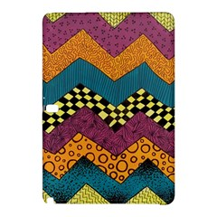 Painted Chevron Pattern Wave Rainbow Color Samsung Galaxy Tab Pro 12 2 Hardshell Case by Alisyart