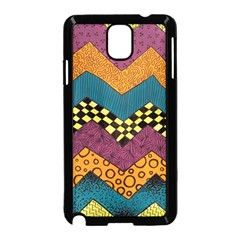 Painted Chevron Pattern Wave Rainbow Color Samsung Galaxy Note 3 Neo Hardshell Case (black)