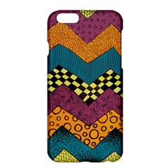 Painted Chevron Pattern Wave Rainbow Color Apple Iphone 6 Plus/6s Plus Hardshell Case by Alisyart