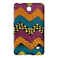 Painted Chevron Pattern Wave Rainbow Color Samsung Galaxy Tab 4 (8 ) Hardshell Case  by Alisyart