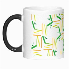Patterns Boomerang Line Chevron Green Orange Yellow Morph Mugs