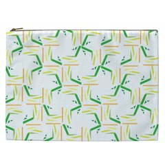 Patterns Boomerang Line Chevron Green Orange Yellow Cosmetic Bag (xxl)