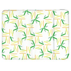 Patterns Boomerang Line Chevron Green Orange Yellow Samsung Galaxy Tab 7  P1000 Flip Case
