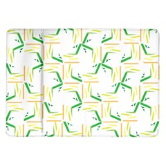 Patterns Boomerang Line Chevron Green Orange Yellow Samsung Galaxy Tab 10 1  P7500 Flip Case