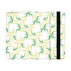 Patterns Boomerang Line Chevron Green Orange Yellow Samsung Galaxy Tab Pro 8 4  Flip Case by Alisyart