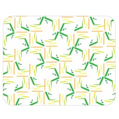 Patterns Boomerang Line Chevron Green Orange Yellow Double Sided Flano Blanket (medium)  by Alisyart
