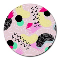 Pink Circle Red Pattern,sexy Round Mousepads