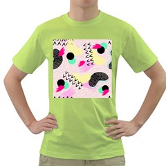 Pink Circle Red Pattern,sexy Green T Shirt