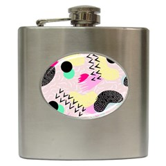 Pink Circle Red Pattern,sexy Hip Flask (6 Oz) by Alisyart