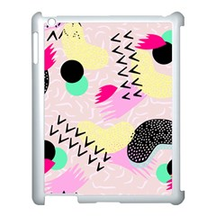 Pink Circle Red Pattern,sexy Apple Ipad 3/4 Case (white) by Alisyart