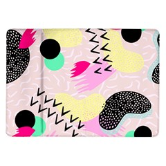 Pink Circle Red Pattern,sexy Samsung Galaxy Tab 10 1  P7500 Flip Case by Alisyart