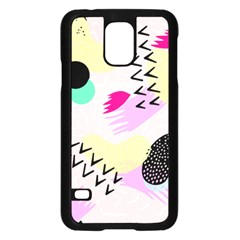 Pink Circle Red Pattern,sexy Samsung Galaxy S5 Case (black) by Alisyart