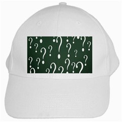 Question Mark White Green Think White Cap