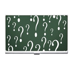 Question Mark White Green Think Business Card Holders