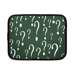 Question Mark White Green Think Netbook Case (small)  by Alisyart