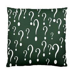 Question Mark White Green Think Standard Cushion Case (two Sides) by Alisyart