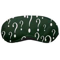 Question Mark White Green Think Sleeping Masks by Alisyart