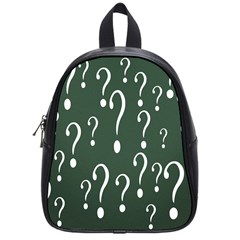 Question Mark White Green Think School Bags (small)  by Alisyart