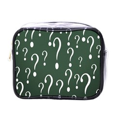 Question Mark White Green Think Mini Toiletries Bags by Alisyart