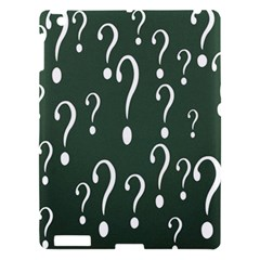 Question Mark White Green Think Apple Ipad 3/4 Hardshell Case