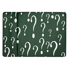 Question Mark White Green Think Samsung Galaxy Tab 10 1  P7500 Flip Case