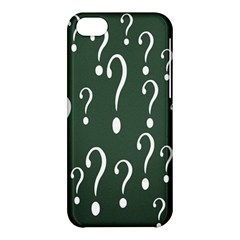 Question Mark White Green Think Apple Iphone 5c Hardshell Case by Alisyart