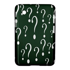 Question Mark White Green Think Samsung Galaxy Tab 2 (7 ) P3100 Hardshell Case  by Alisyart