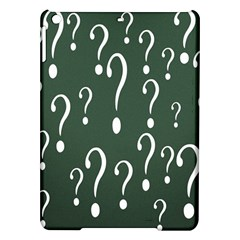 Question Mark White Green Think Ipad Air Hardshell Cases by Alisyart