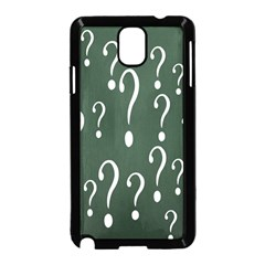 Question Mark White Green Think Samsung Galaxy Note 3 Neo Hardshell Case (black)
