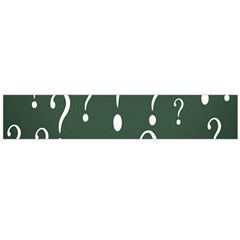Question Mark White Green Think Flano Scarf (large) by Alisyart