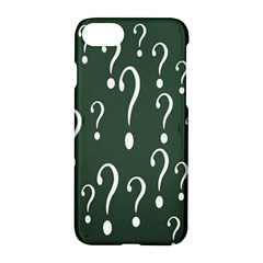 Question Mark White Green Think Apple Iphone 7 Hardshell Case by Alisyart