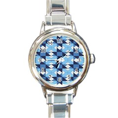 Radiating Star Repeat Blue Round Italian Charm Watch by Alisyart