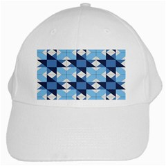 Radiating Star Repeat Blue White Cap by Alisyart