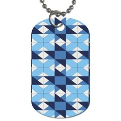 Radiating Star Repeat Blue Dog Tag (one Side)