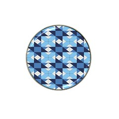 Radiating Star Repeat Blue Hat Clip Ball Marker (4 Pack)