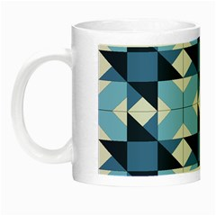 Radiating Star Repeat Blue Night Luminous Mugs by Alisyart