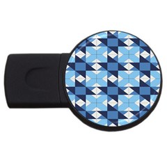 Radiating Star Repeat Blue Usb Flash Drive Round (4 Gb) by Alisyart