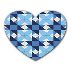 Radiating Star Repeat Blue Heart Mousepads by Alisyart