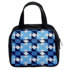 Radiating Star Repeat Blue Classic Handbags (2 Sides) by Alisyart